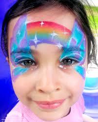face painting rainbow erfly