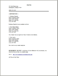 Reference Page Format Resume 9 Occupational Examples Samples Free