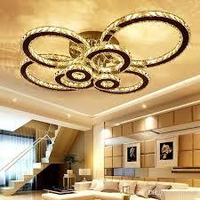 led k9 crystal ceiling light flush mount chrome ceiling lights lamp 8 round led chandelier lighting fixture with remote for living room chandelier shades