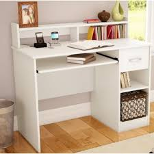 White desk with drawers on both sides Hutch Quickview Wayfair Hutch Desks Youll Love Wayfair