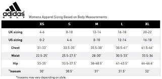 Adidas Size Chart Womens Clothing Cm