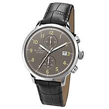 accurist watches men s ladies accurist watches h samuel accurist men s chronograph black leather strap watch product number 4575253