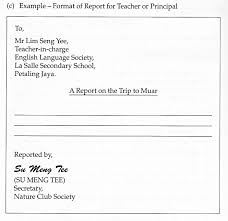 primary school report writing format  primary school report writing format