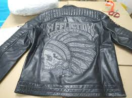 qltrade 5 affliction leather jackets indian head embroidery 100 genuine leather motorcycle leather jackets