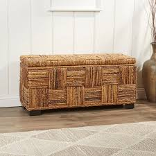 rattan storage bench. Contemporary Storage Colebrook Woven Storage Bench Intended Rattan S