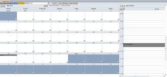 Calendar Scheduler Template Enhanced Calendar Scheduling Database Template Calendar