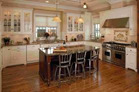 Wooden Floors In Kitchens Dark Floor With White Cabinets Shining Home Design