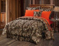 Blaze Orange Oak Timber Camo Comforter Set