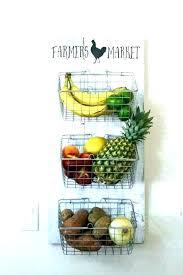 fruit basket holder kitchen fruit basket 3 tier wall hanging baskets holder for