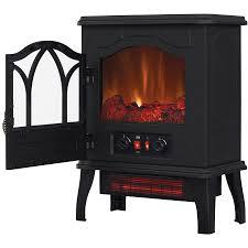 electric fireplace infrared quartz stove heater 5 200 btu black