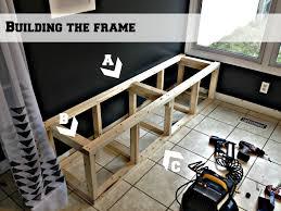 kitchen banquette furniture. Build A Corner Banquette Bench Frame, Pinterior Designer Featured On Remodelaholic Kitchen Furniture