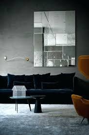 dark blue sofa. Blue Velvet Couch Midnight Dark Sofa And Grey Carpet Cover