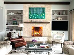 above fireplace decorating ideas next to pretty mantel shelf in living room transitional with cedar flat screen over tv decor