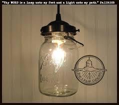 mason jar pendant lighting. Mason Jar PENDANT Light Vintage Quart Fixture The Lamp Goods Pendant Lighting O