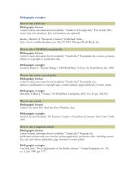 Bibliography Example