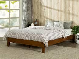 amazoncom zinus  inch deluxe wood platform bed  no boxspring