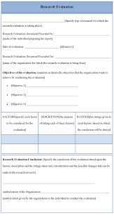 Literature Review Matrix Sample Research Evaluation Template