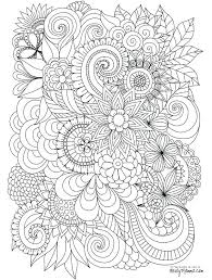 Printable Coloring Pages For Adults Flowers Coloring Book Pages