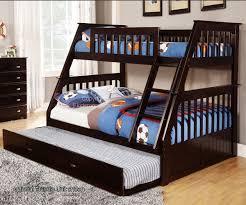 contemporary kids bedding design with rich espresso lacquer finish