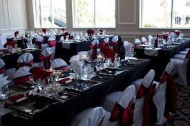wedding reception nas pensacola black and red linens officers club nas pensacola wedding reception table linens