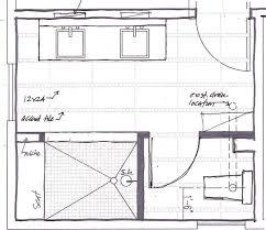 small master bathroom floor plans. Bathroom, Wonderful Bathroom Floor Plans Master Sketch With Closed Vanity And Bath Small L
