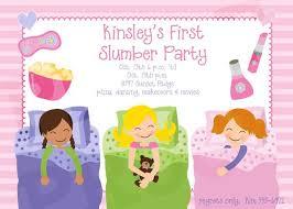 Printable Slumber Party Birthday Printable Invitation Girl Party Invites Slumber Party