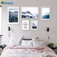 7 space beautiful nature poster modern landscape wall art print canvas painting bedroom living decor