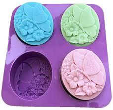 4-Hole Butterfly Flower Handmade Soap Molds Jelly ... - Amazon.com