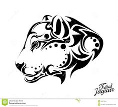 племенная татуировка ягуара иллюстрация вектора иллюстрации