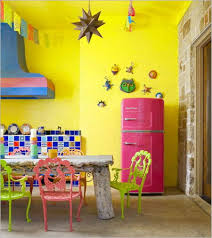 Colorful Kitchens Kitchens Beautiful Colorful Kitchen Design Blue Yellow White