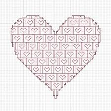 Free Blackwork Embroidery Charts Free Blackwork Valentines Heart Pattern Feltmagnet