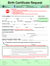 Oklahoma Birth Certificate Amendment Form Fill Out Online Forms