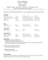 Create A Resume Template Stunning Form Of Resume Sample Performer Resume Template Forms Of Resume