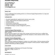 Cute Resume Technical Support Representative Contemporary Entry