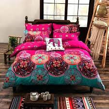 indian print bedding print bed sheets bedding set home red mandala elephant bed linen soft fabric indian block print bedding