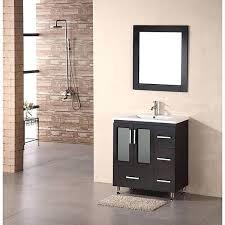 30 espresso bathroom vanity sk belvedere modern espresso 30 inch bathroom vanity with vessel sink