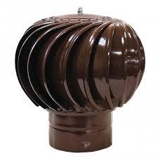 <b>ТД</b>-<b>110 оцинкованный</b> коричневый <b>турбодефлектор</b> вращающийся