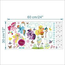 Pony Height Chart My Little Pony Size Chart Decals For Sale In Blanchardstown