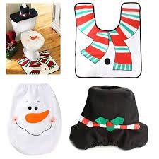santa toilet seat cover and rug set santa sacks decorations for home new year