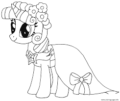 Princess Twilight Sparkle My Little Pony Coloring Pages Printable