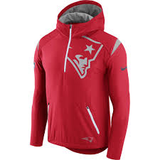 autumn winter 2018 mens new england patriots nike red sideline fly rush half zip