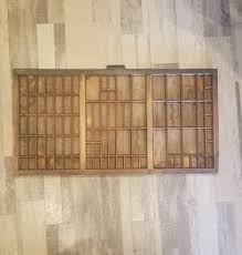 vintage hamilton mfg co type foundry letterpress wood tray 1930s drawer display printer typeset tray shadow box miniatures rustic decor
