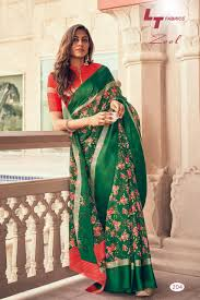 Surat Designer Sarees Online Lt Fabrics Zeel Catalog Kota Silk Fancy Designer Sarees