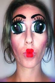 makeup creepy doll