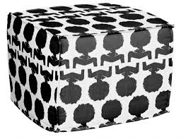 Black And White Pouf Silhouette Pouf Aphrochic Modern Soulful Style
