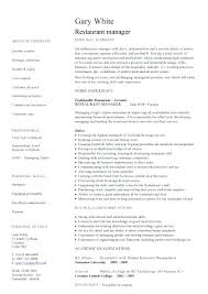 Restaurant Manager Resume Template Stunning Restaurant Resume Template Restaurant Manager Sample In Restaurant