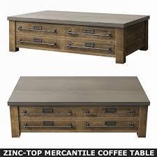 zinc top coffee table barkeaterlake com