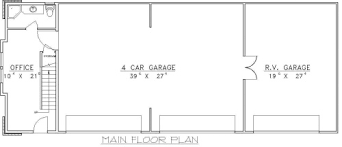 Exclusive Design 10 5 Car Garage Floor Plans House Plan 96901 Homeca 5  Bedroom House Plans .