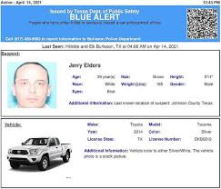 Texas dps trooper shot in head, blue alert for armed and dangerous suspect. Blue Alert Issued For Jerry Elders In Texas