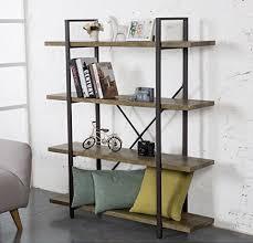 industrial style shelving. O\u0026K Furniture 4-Tier Bookcase, Vintage Industrial Style Bookshelves By Shelving A